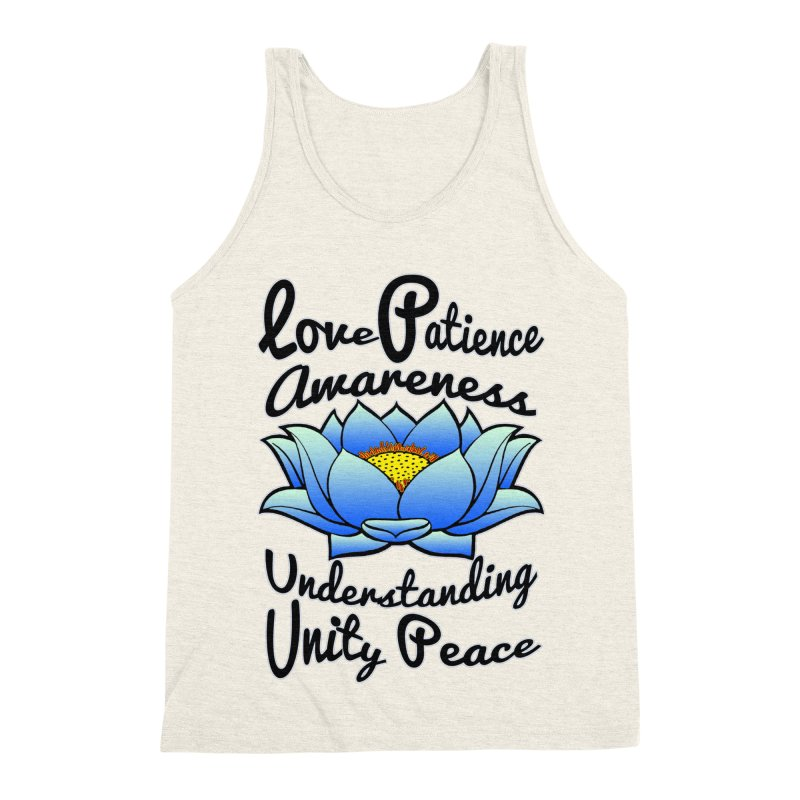 The Lotus Blossom Men's Triblend Tank by Spiral Saint - Artist Shop