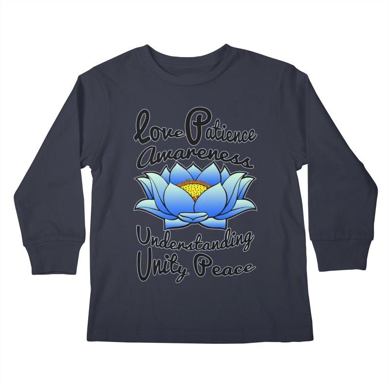 The Lotus Blossom Kids Longsleeve T-Shirt by Spiral Saint - Artist Shop