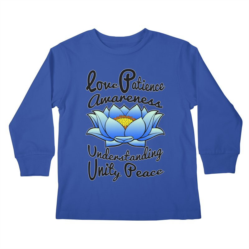 The Lotus Blossom Kids Longsleeve T-Shirt by Spiral Saint - Artist Shop
