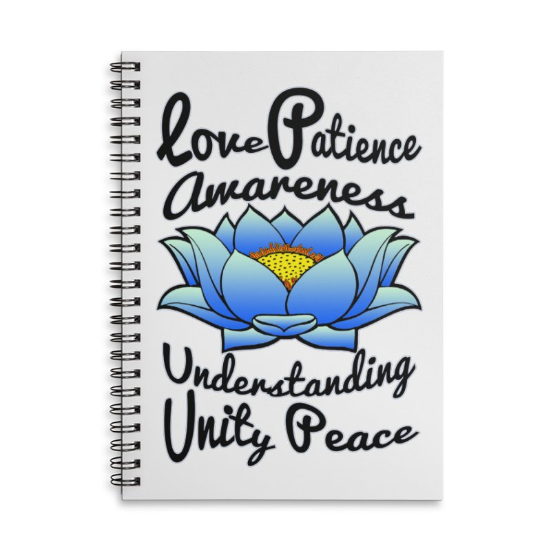 The Lotus Blossom Accessories Lined Spiral Notebook by Spiral Saint - Artist Shop