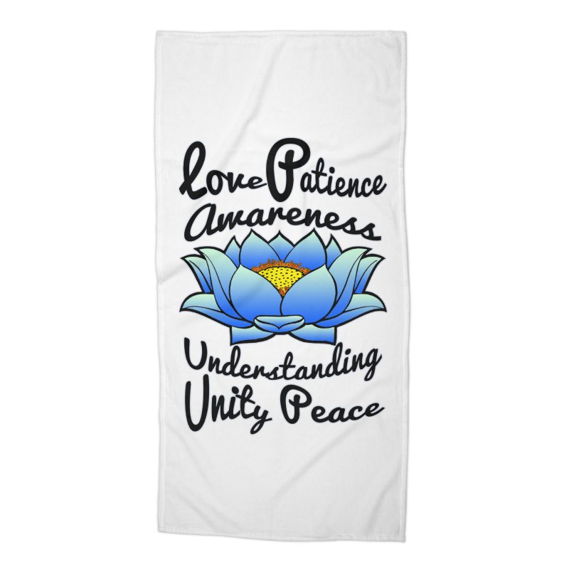 The Lotus Blossom Accessories Beach Towel by Spiral Saint - Artist Shop