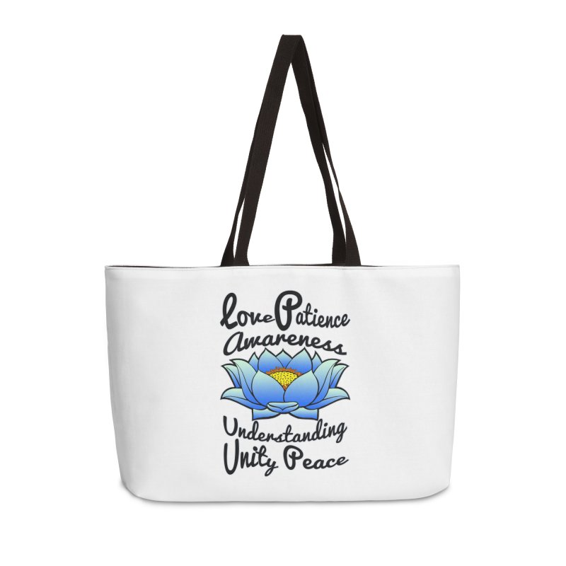 The Lotus Blossom Accessories Weekender Bag Bag by Spiral Saint - Artist Shop