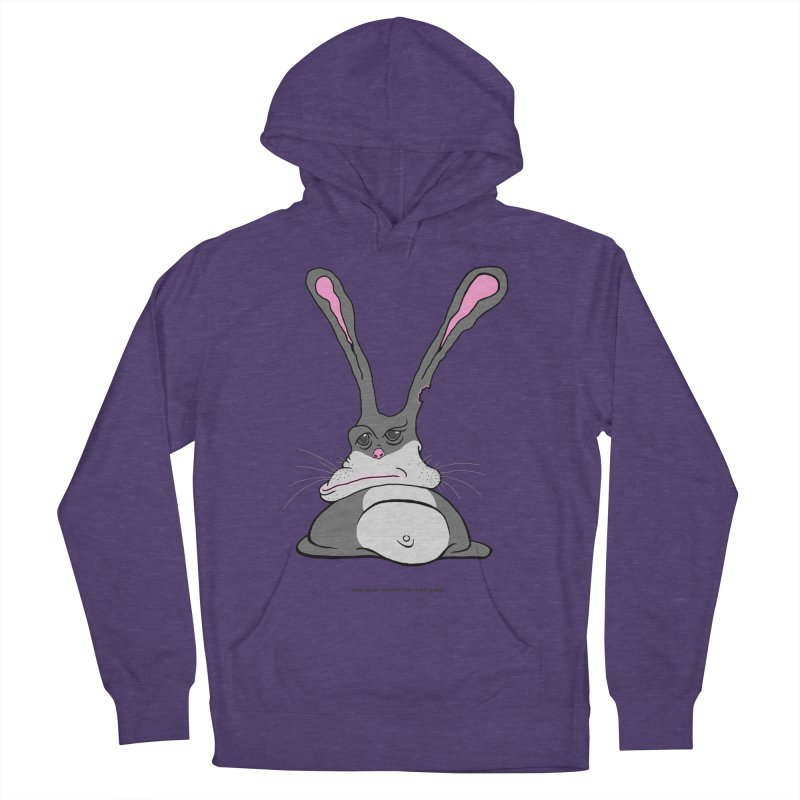Chubs Bunny Women's French Terry Pullover Hoody by Spiral Saint - Artist Shop