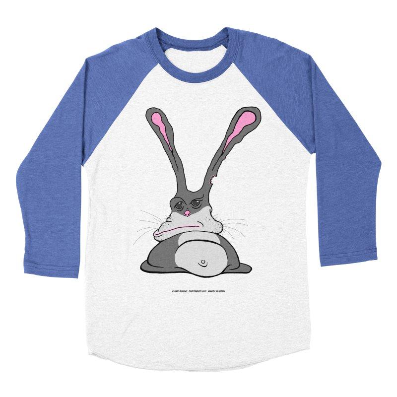 Chubs Bunny Women's Baseball Triblend Longsleeve T-Shirt by Spiral Saint - Artist Shop