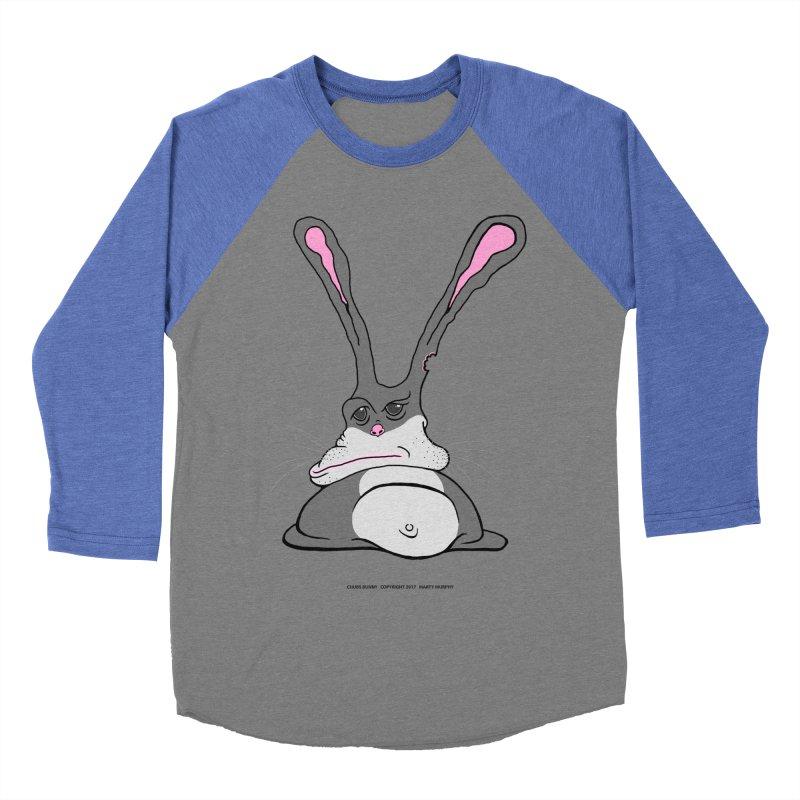 Chubs Bunny Men's Baseball Triblend T-Shirt by Spiral Saint - Artist Shop