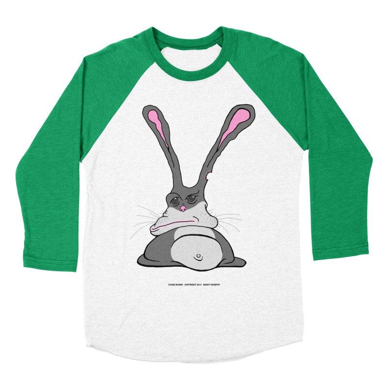 Chubs Bunny Men's Baseball Triblend Longsleeve T-Shirt by Spiral Saint - Artist Shop