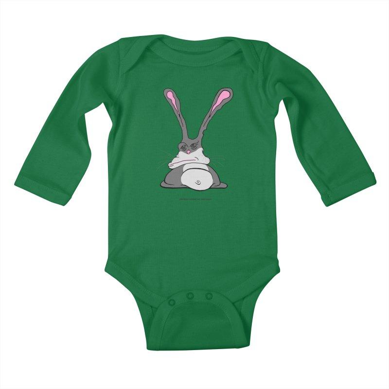 Chubs Bunny Kids Baby Longsleeve Bodysuit by Spiral Saint - Artist Shop