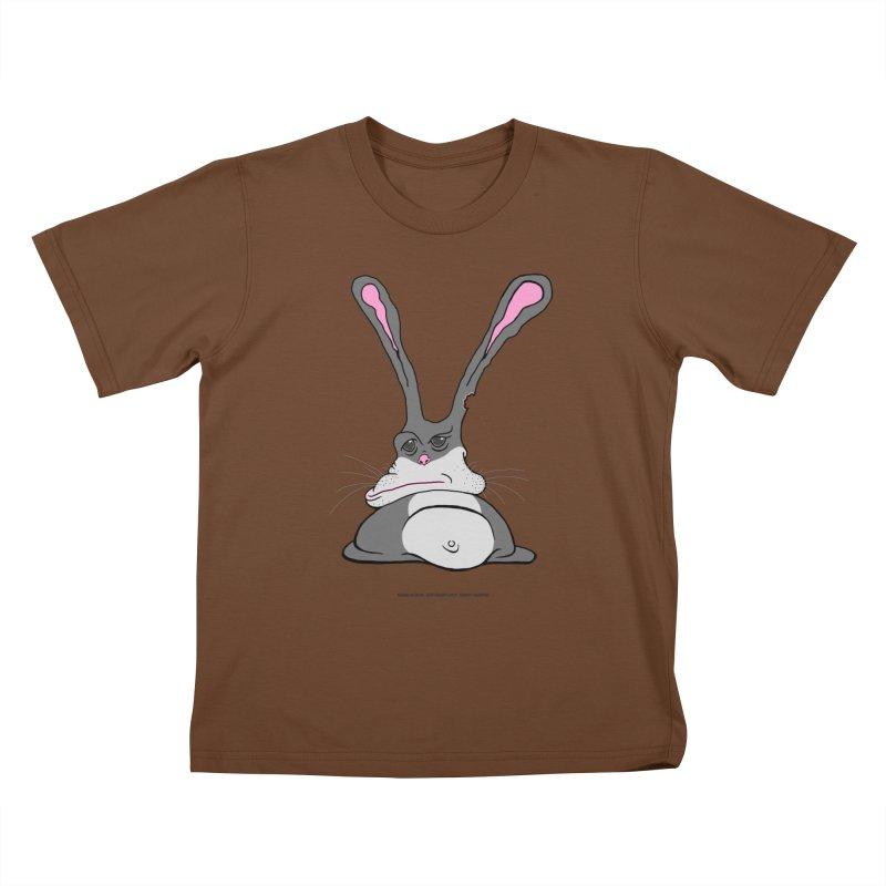 Chubs Bunny Kids T-Shirt by Spiral Saint - Artist Shop