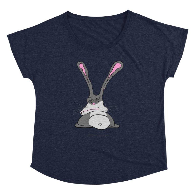 Chubs Bunny Women's Dolman Scoop Neck by Spiral Saint - Artist Shop