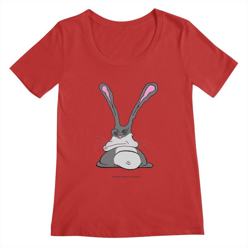 Chubs Bunny Women's Regular Scoop Neck by Spiral Saint - Artist Shop