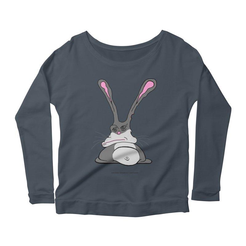 Chubs Bunny Women's Longsleeve Scoopneck  by Spiral Saint - Artist Shop