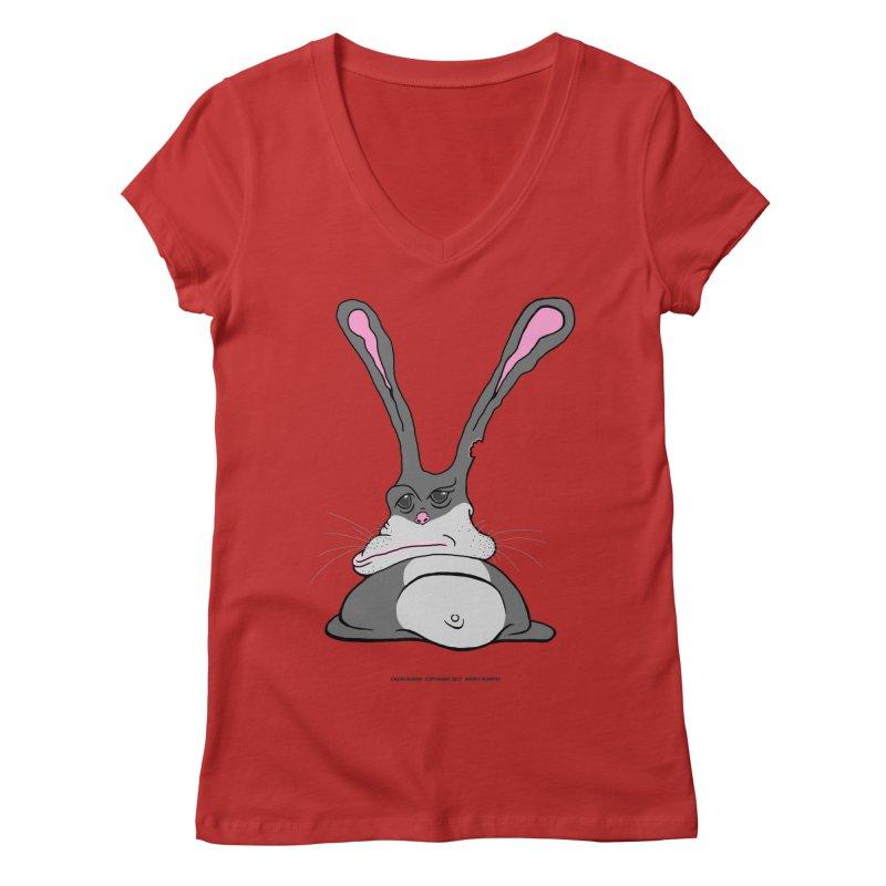 Chubs Bunny Women's Regular V-Neck by Spiral Saint - Artist Shop