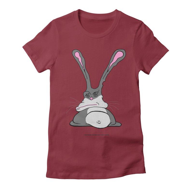 Chubs Bunny Women's Fitted T-Shirt by Spiral Saint - Artist Shop