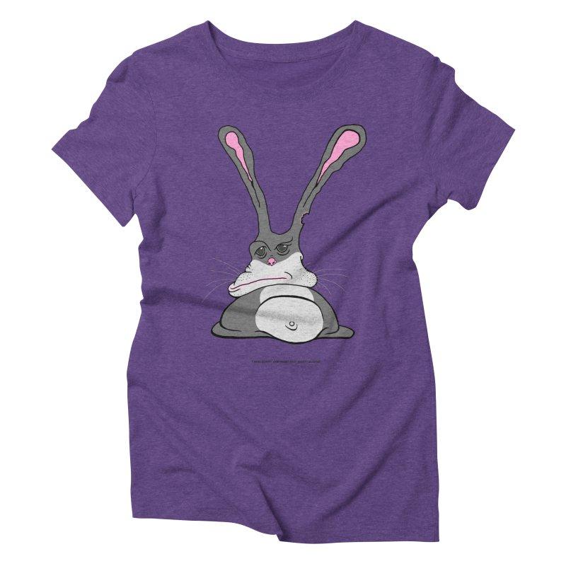 Chubs Bunny Women's Triblend T-Shirt by Spiral Saint - Artist Shop