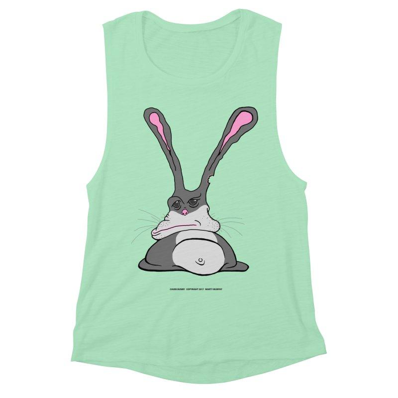 Chubs Bunny Women's Muscle Tank by Spiral Saint - Artist Shop