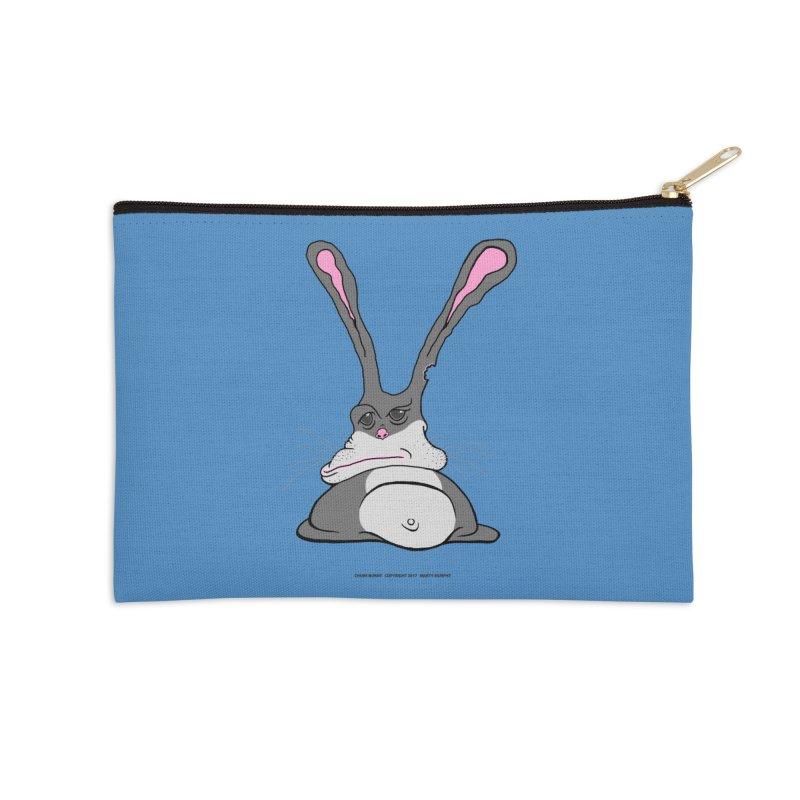 Chubs Bunny Accessories Zip Pouch by Spiral Saint - Artist Shop