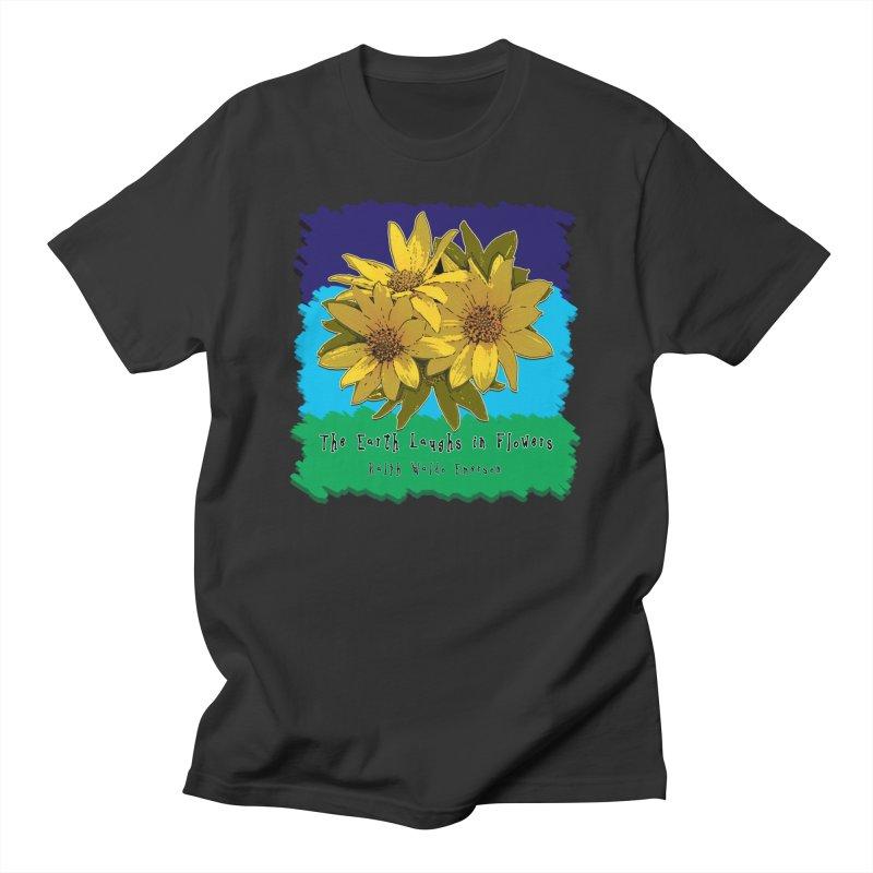 Laughing Earth Flowers Men's T-Shirt by Spiral Saint - Artist Shop