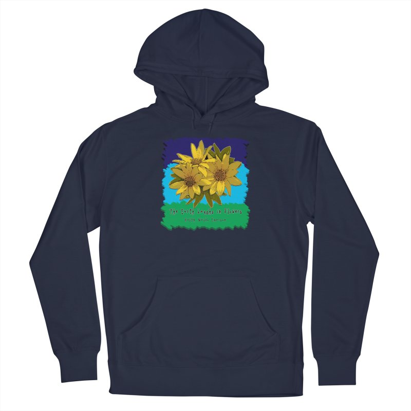 Laughing Earth Flowers Men's Pullover Hoody by Spiral Saint - Artist Shop