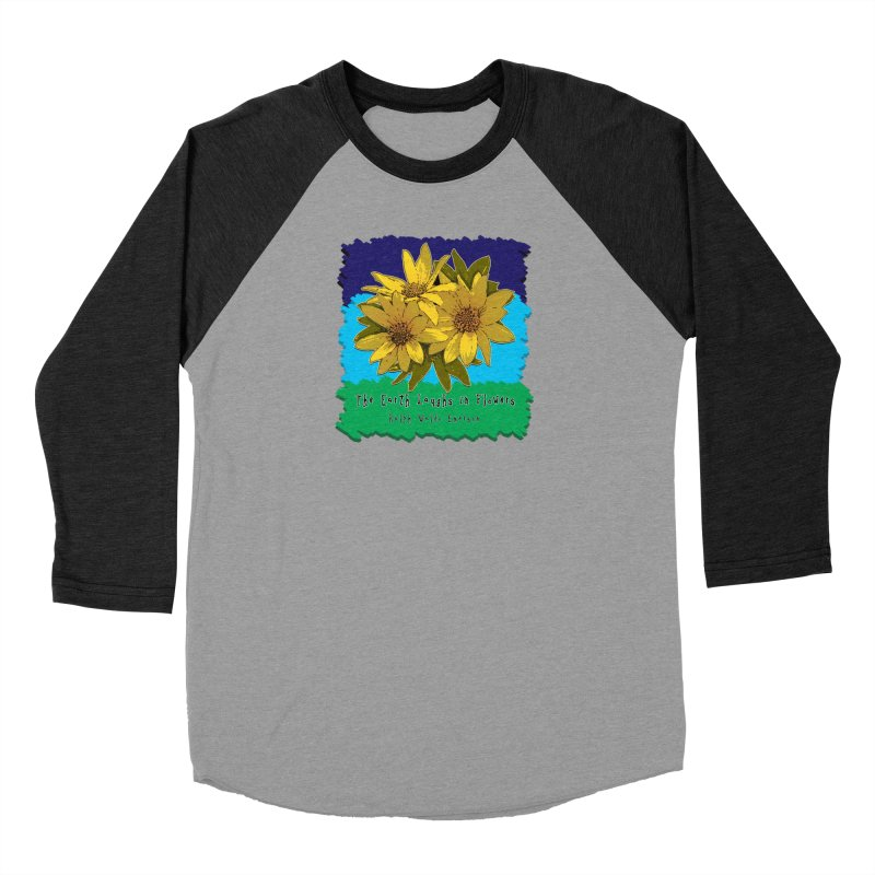 Laughing Earth Flowers Women's Longsleeve T-Shirt by Spiral Saint - Artist Shop