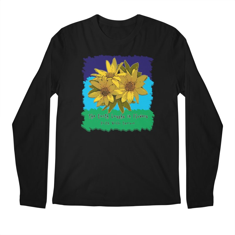 Laughing Earth Flowers Men's Longsleeve T-Shirt by Spiral Saint - Artist Shop