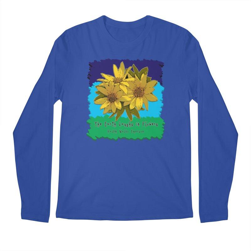 Laughing Earth Flowers Men's Regular Longsleeve T-Shirt by Spiral Saint - Artist Shop