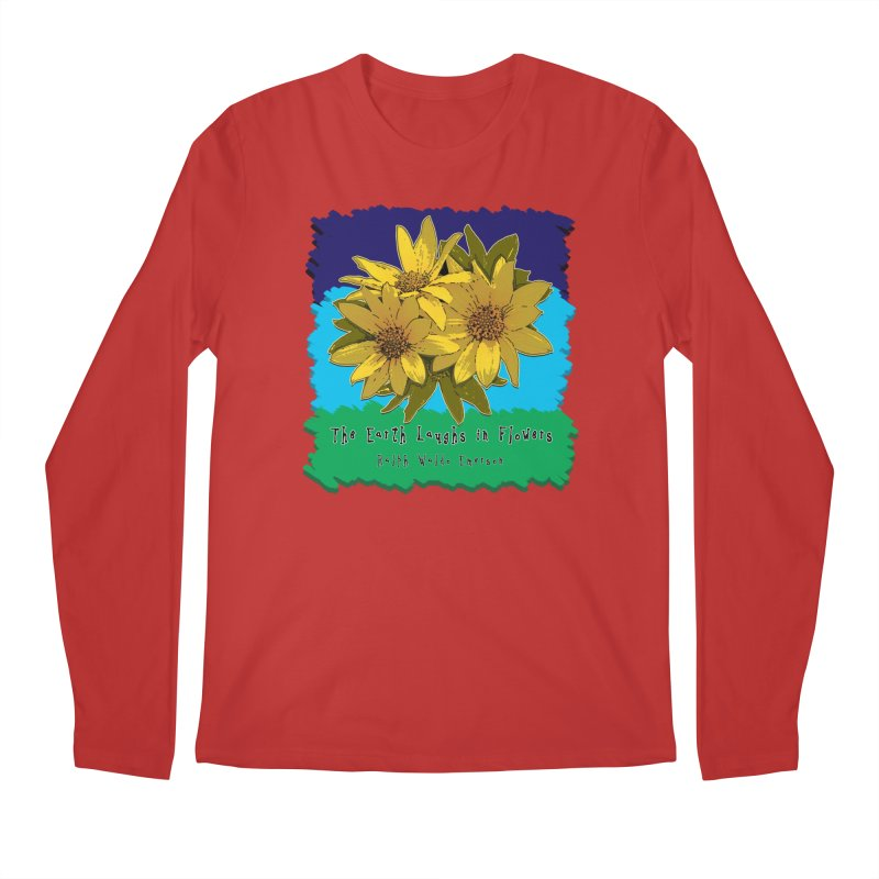 Laughing Earth Flowers Men's Regular Longsleeve T-Shirt by Spiral Saint - Artist Shop