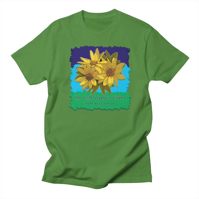 Laughing Earth Flowers Women's Regular Unisex T-Shirt by Spiral Saint - Artist Shop