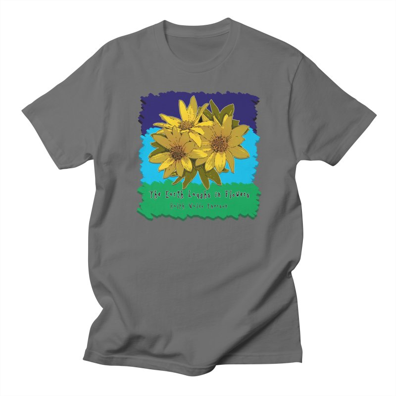 Laughing Earth Flowers Men's T-Shirt by Spiral Saint - Artist Shop