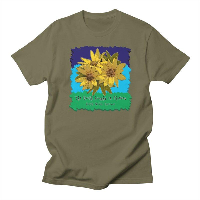 Laughing Earth Flowers Men's Regular T-Shirt by Spiral Saint - Artist Shop