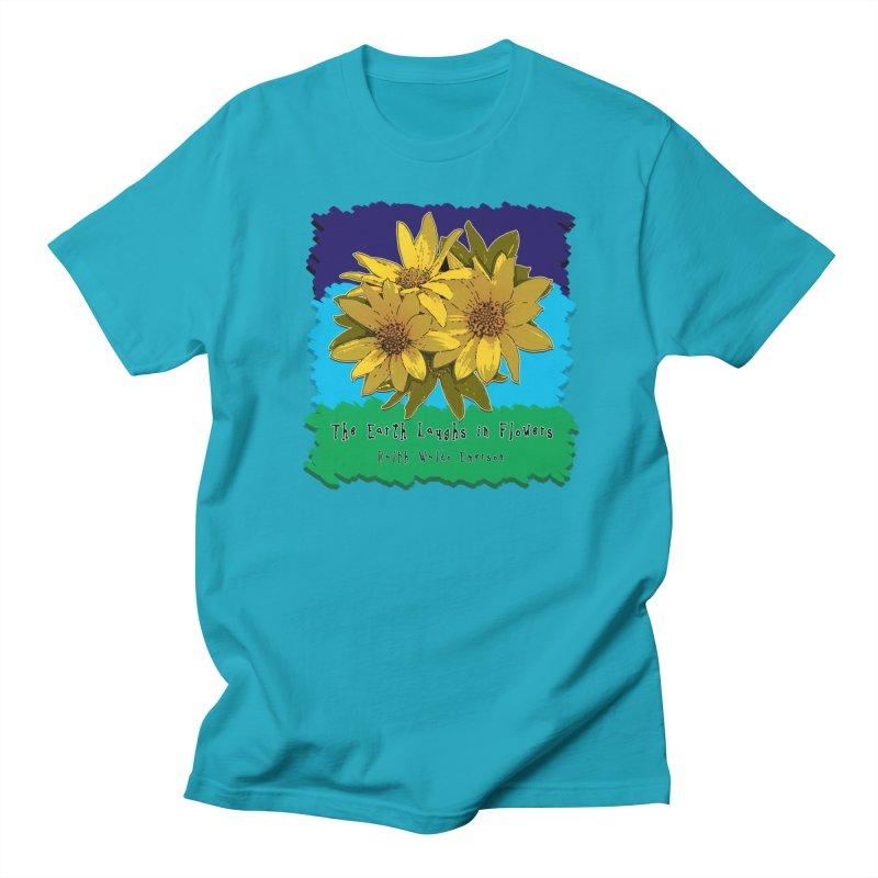Laughing Earth Flowers Women's Regular Unisex T-Shirt by Spiral Saint - Artist Shop