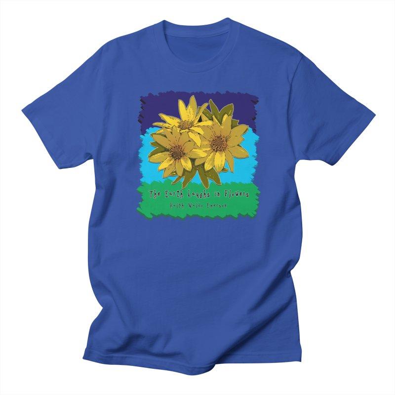 Laughing Earth Flowers Women's Unisex T-Shirt by Spiral Saint - Artist Shop