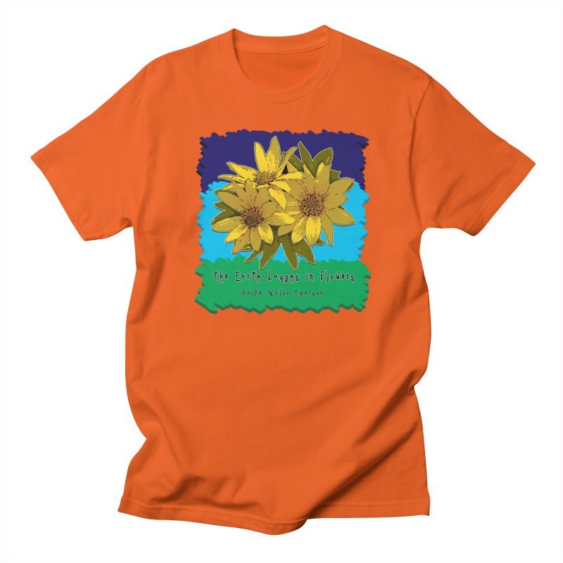 Laughing Earth Flowers Men's Regular T-Shirt by Spiral Saint - Artist Shop