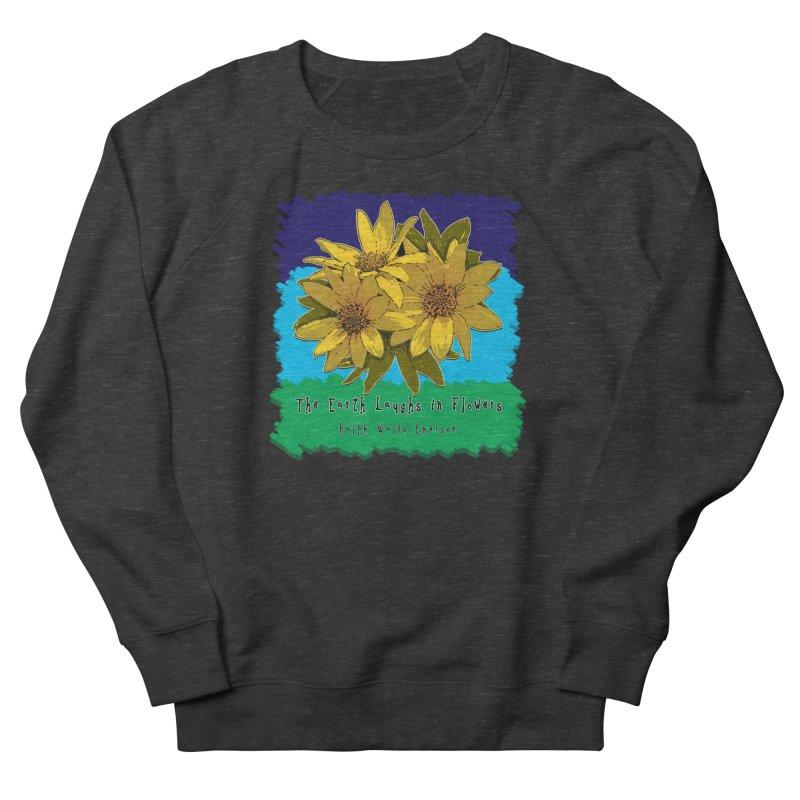 Laughing Earth Flowers Men's Sweatshirt by Spiral Saint - Artist Shop
