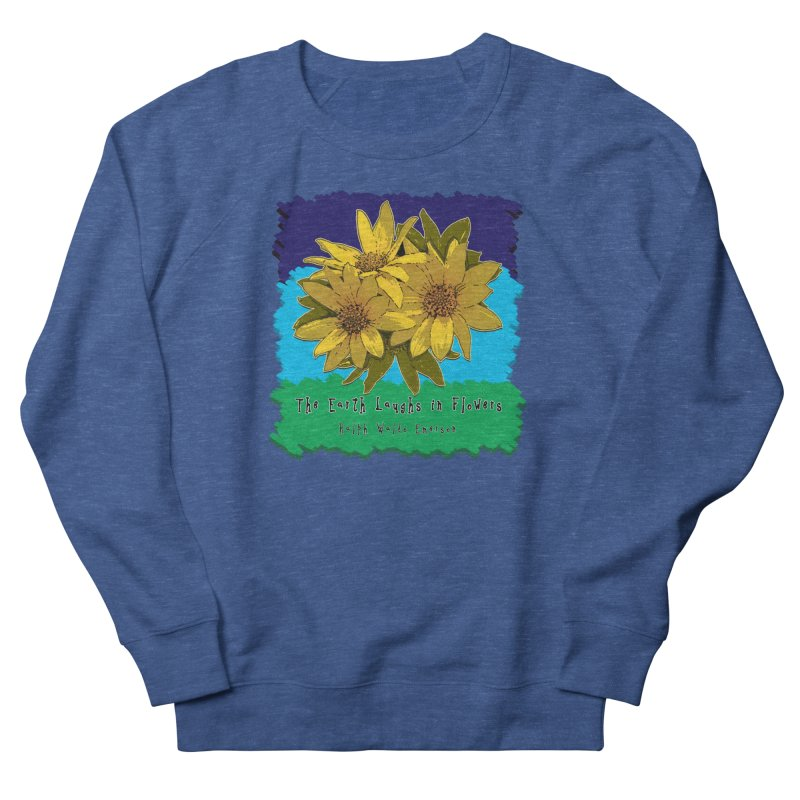 Laughing Earth Flowers Men's French Terry Sweatshirt by Spiral Saint - Artist Shop