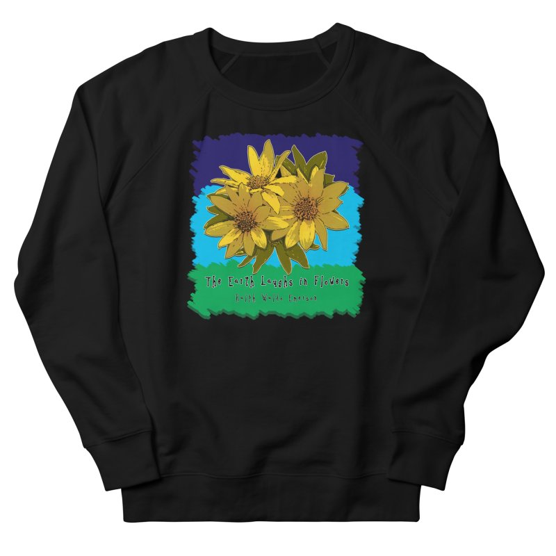 Laughing Earth Flowers Men's Sweatshirt by Spiral Saint - Artist Shop