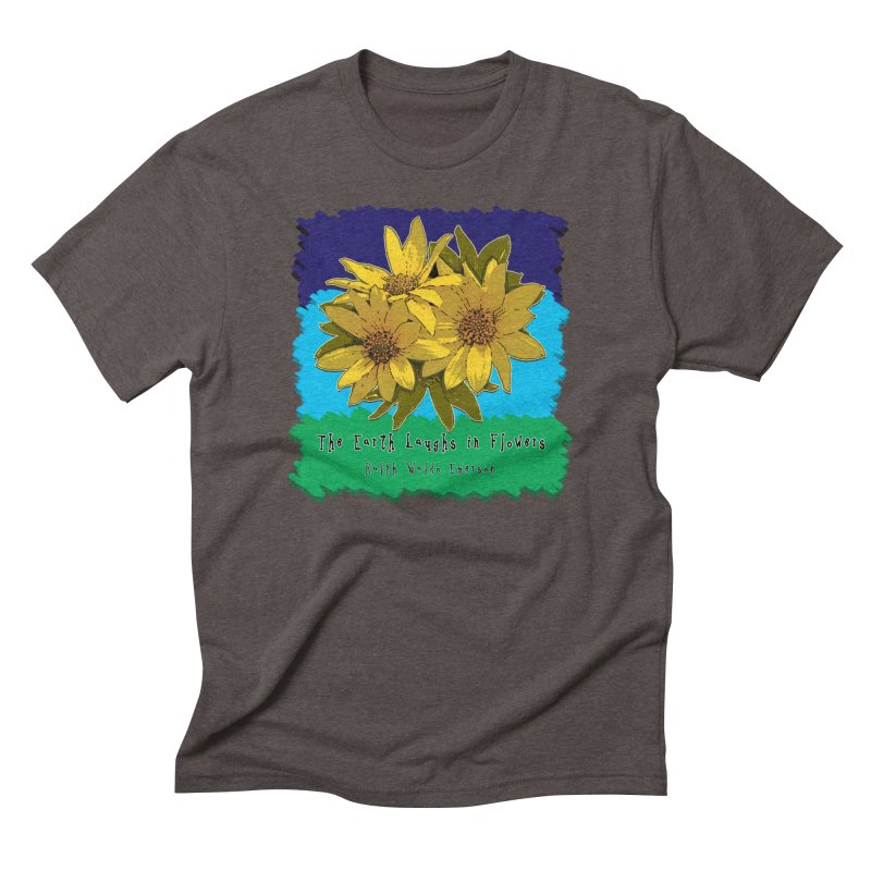 Laughing Earth Flowers Men's Triblend T-Shirt by Spiral Saint - Artist Shop