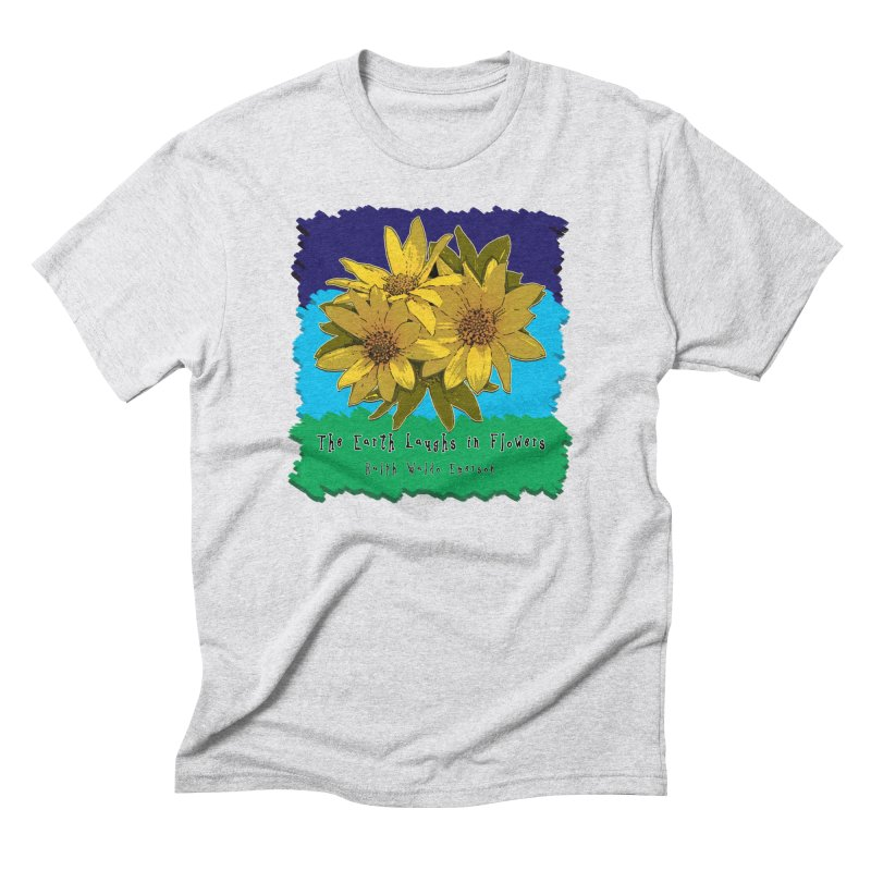 Laughing Earth Flowers Men's Triblend T-Shirt by Spiral Saint - Artist Shop