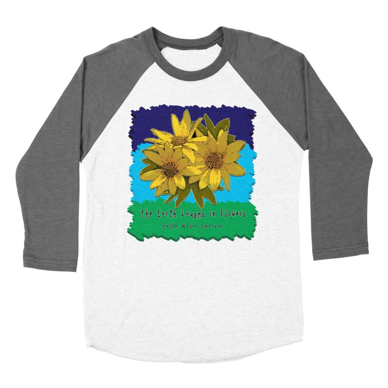 Laughing Earth Flowers Women's Baseball Triblend Longsleeve T-Shirt by Spiral Saint - Artist Shop