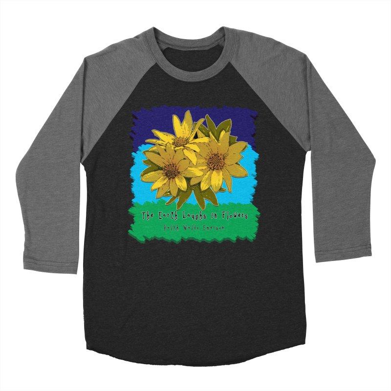 Laughing Earth Flowers Women's Baseball Triblend Longsleeve T-Shirt by Spiral Saint - Artist Shop
