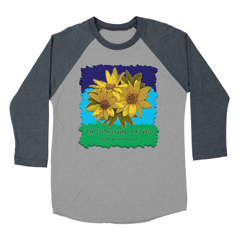 Laughing Earth Flowers Women's Longsleeve T-Shirt by Spiral Saint - Artist Shop