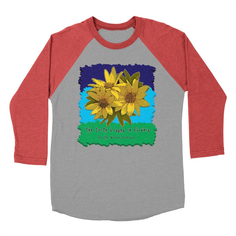 Laughing Earth Flowers Men's Baseball Triblend Longsleeve T-Shirt by Spiral Saint - Artist Shop
