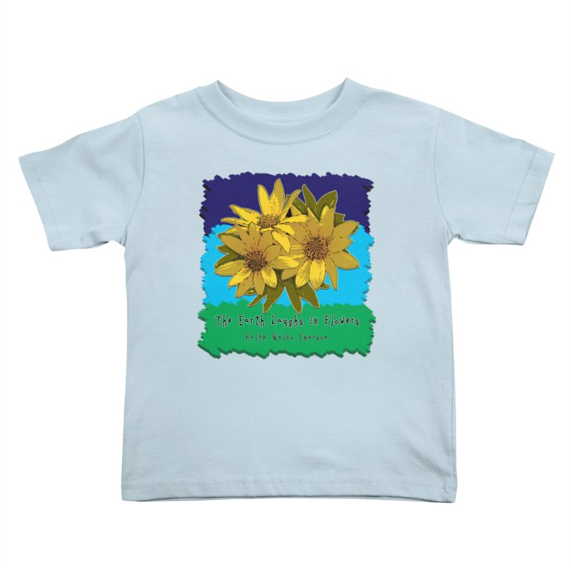 Laughing Earth Flowers Kids Toddler T-Shirt by Spiral Saint - Artist Shop