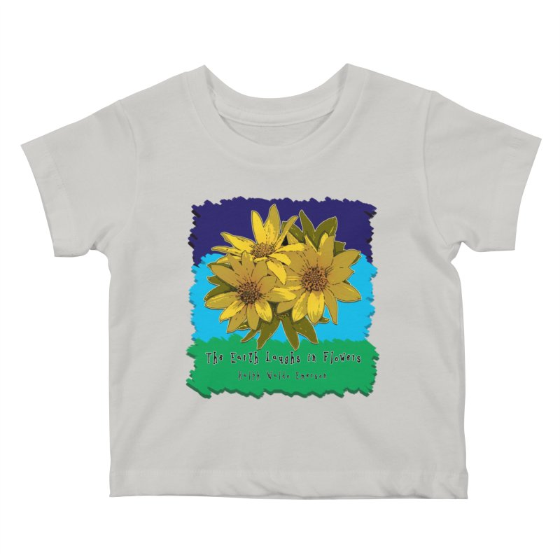 Laughing Earth Flowers Kids Baby T-Shirt by Spiral Saint - Artist Shop