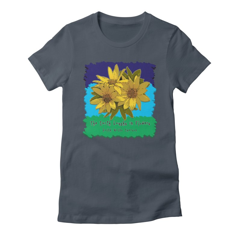 Laughing Earth Flowers Women's T-Shirt by Spiral Saint - Artist Shop