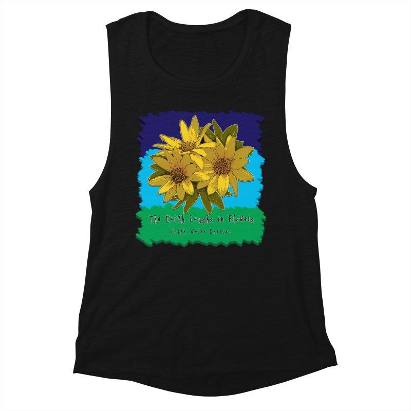 Laughing Earth Flowers Women's Tank by Spiral Saint - Artist Shop