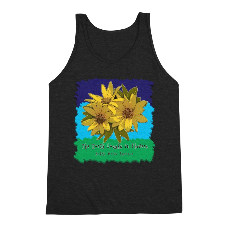 Laughing Earth Flowers Men's Tank by Spiral Saint - Artist Shop
