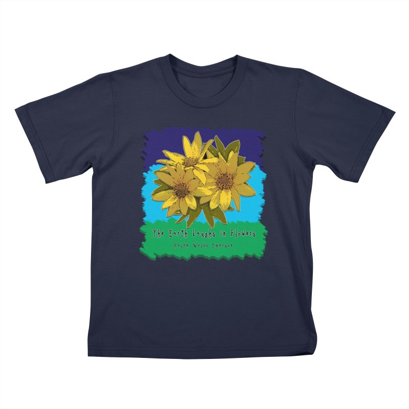 Laughing Earth Flowers Kids T-Shirt by Spiral Saint - Artist Shop