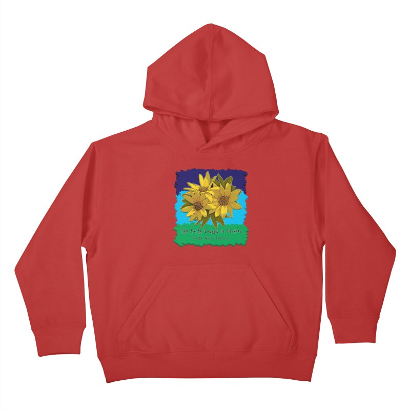 Laughing Earth Flowers Kids Pullover Hoody by Spiral Saint - Artist Shop