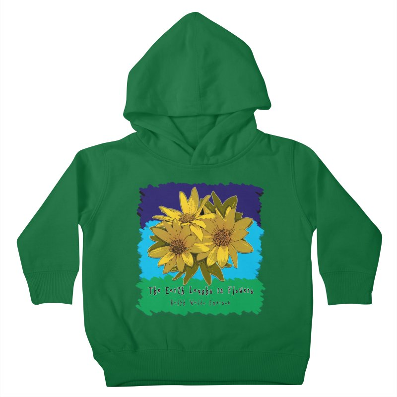 Laughing Earth Flowers Kids Toddler Pullover Hoody by Spiral Saint - Artist Shop