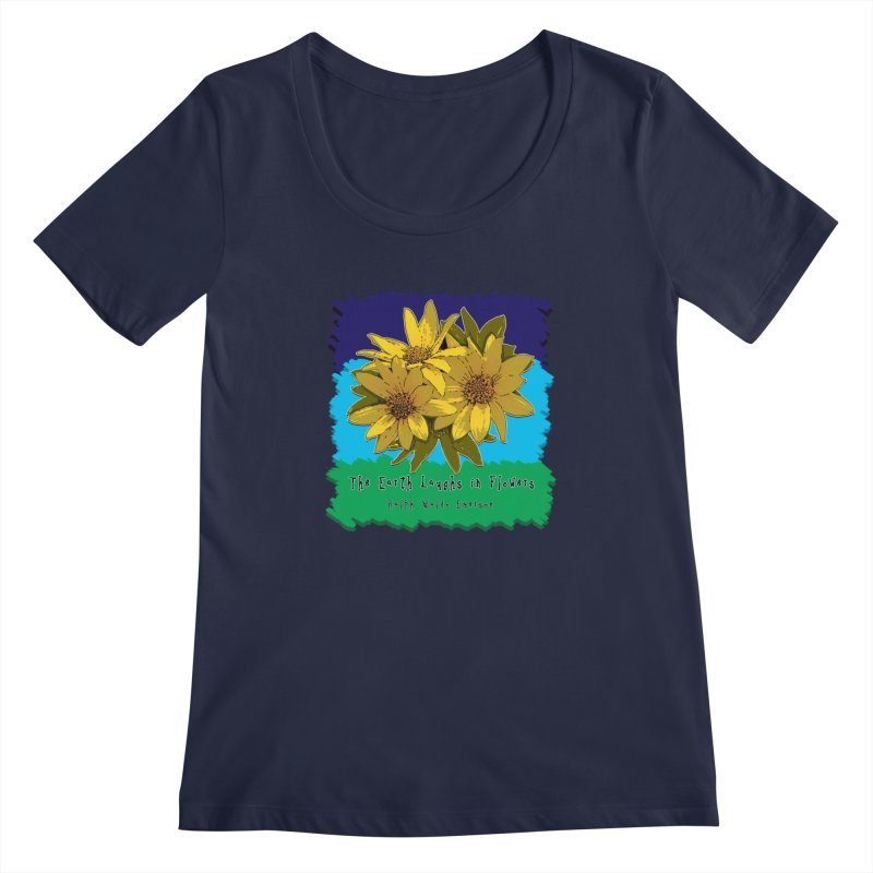 Laughing Earth Flowers Women's Scoopneck by Spiral Saint - Artist Shop